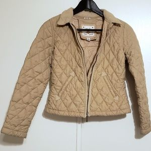 Gap Kids Quilted Jacket with Corduroy Trim
